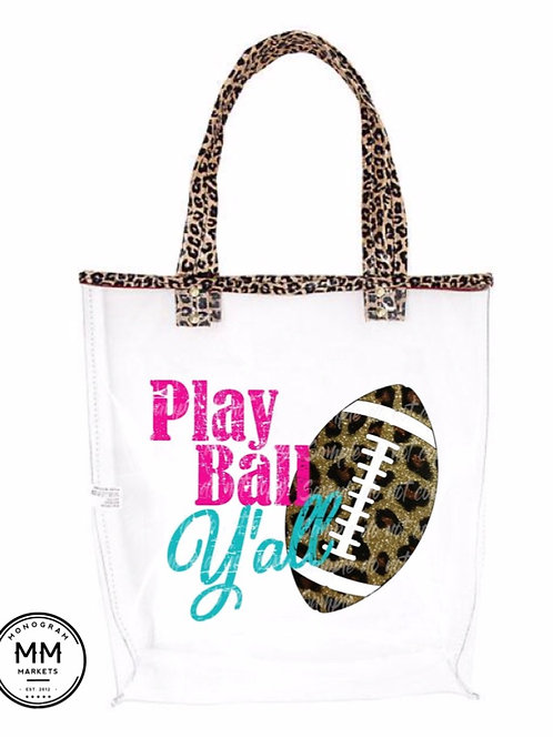Leopard clear tote