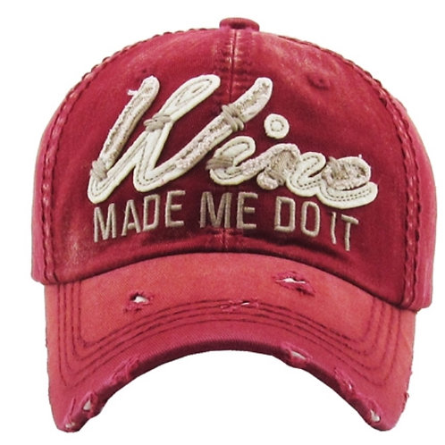 Wine Made Me Do It Cap