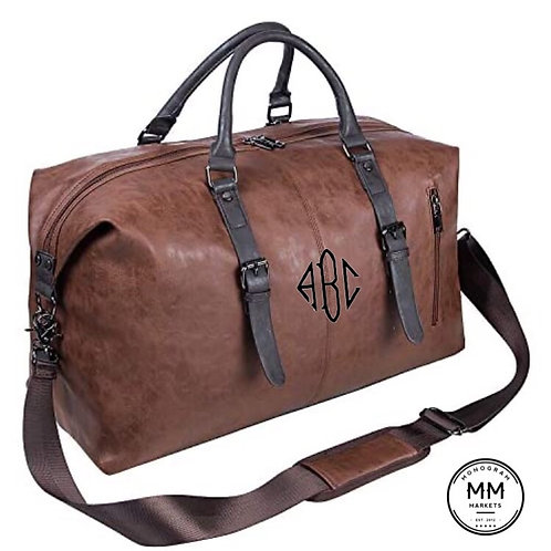 Leather Weekender Monogrammed