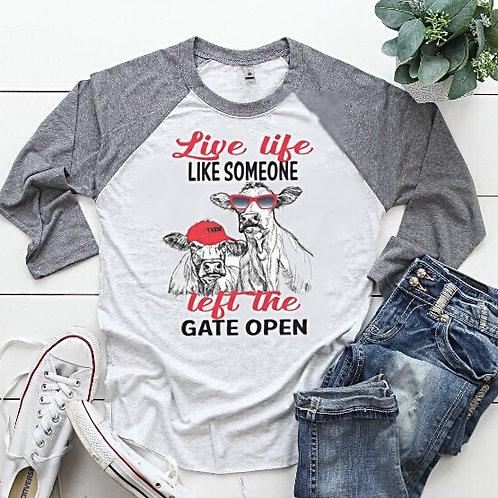 Live Life Cow Tee