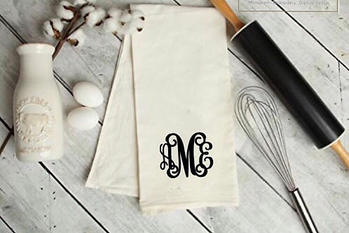 Monogrammed Towels set of 2