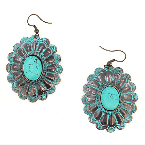 Turquoise & Silver Style Earrings