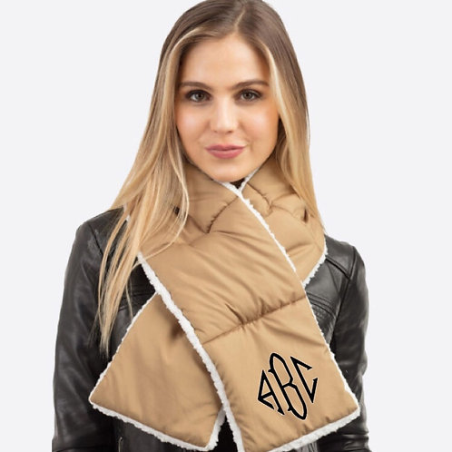 Quilted Sherpa Scarf