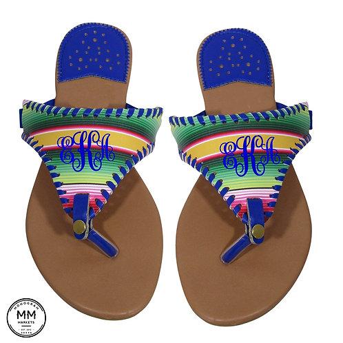 Serape Monogram Sandal