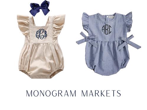 Monogram Baby Rompers