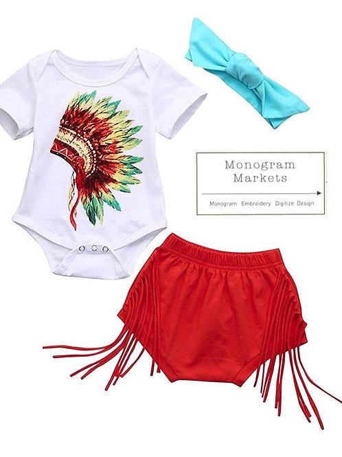 Boho Baby Girl Boutique Set