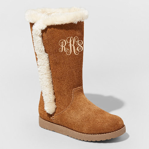 Monogrammed Sherpa Boots