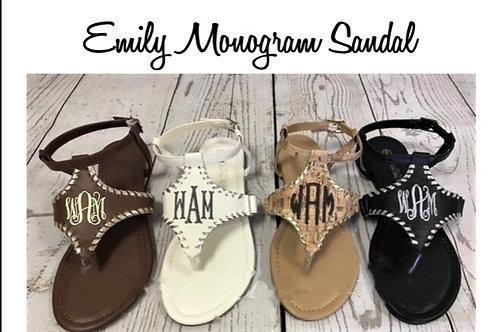 Emily Monogram Sandal