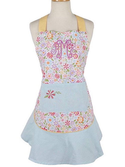 Shabby chic floral apron
