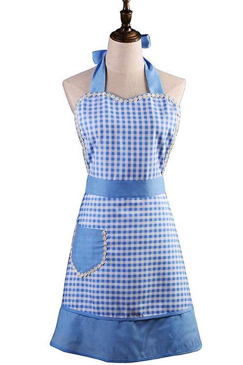 Blue Check Vintage Apron