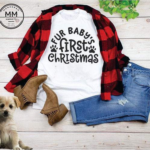 Fur Baby First Christmas Tee