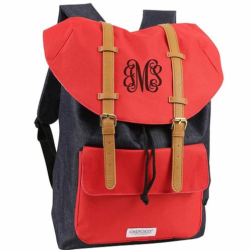 Stylish Monogrammed Backpack