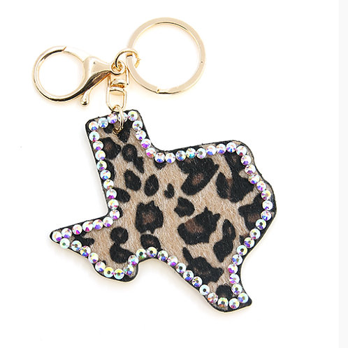 Texas Leopard Key chain