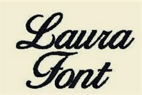 Laura Embroidery Font - All formats