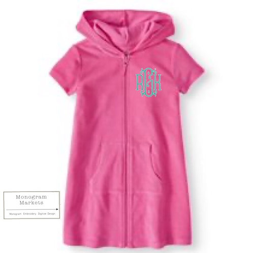 Girls Monogram Swim Cover