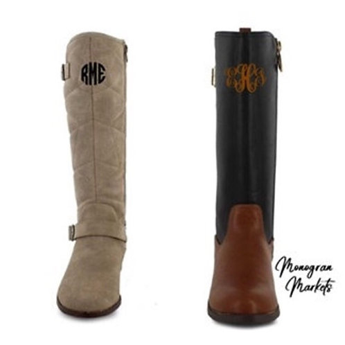 Monogram Youth Riding Boots
