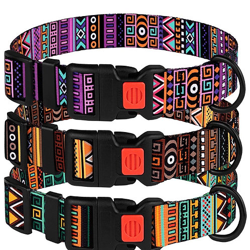 Aztec embroidered dog collars