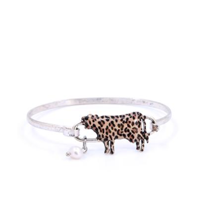 Leopard print cow bracelet