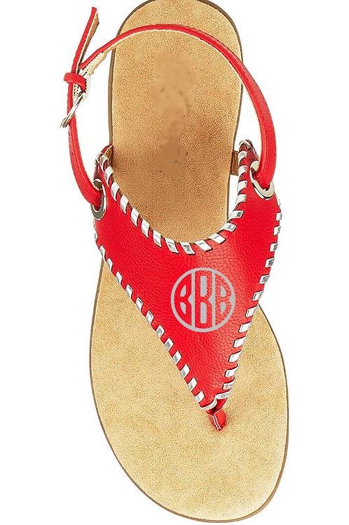 Monogram Strappy Sandals