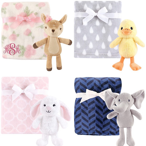 Baby Blanket with plush toy