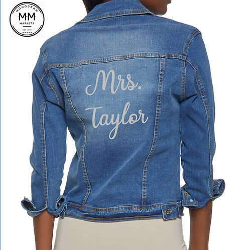 Mrs. Custom Jean Jacket