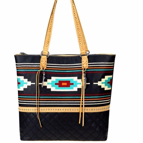 Aztec embroidered Collection Tote