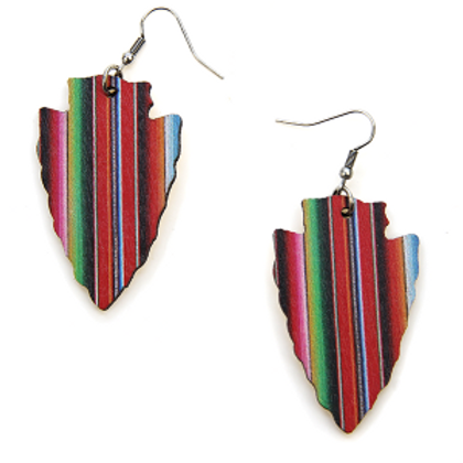 Serape Arrowhead Earrings