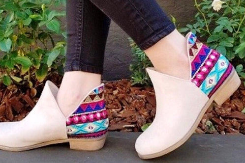 Embroidered Suede Boots