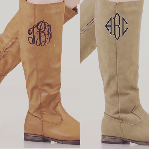 Riding Boots Monogrammed