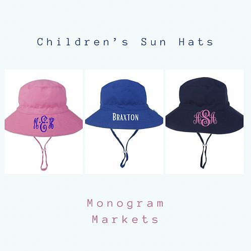 Children's Personalized Sun Hat