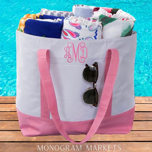 Beach Monogram Tote Bags