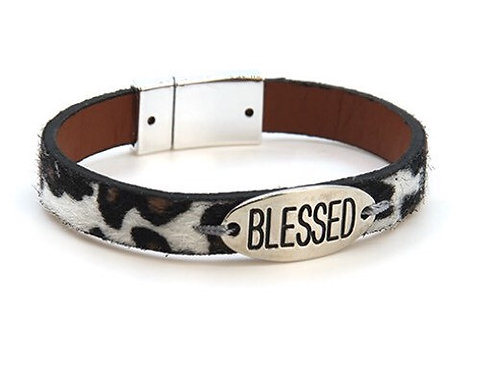 Blessed or Faith Silver Magnetic Bracelets