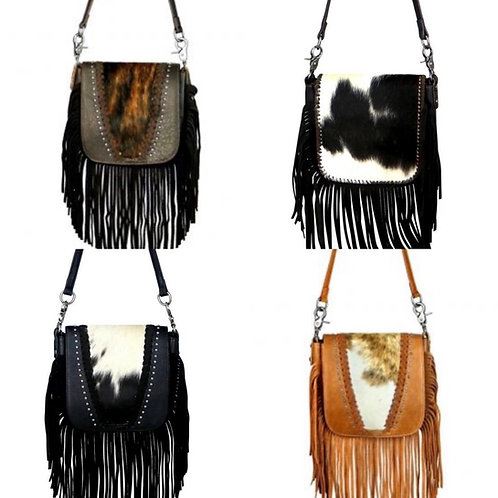 Leather Cowhide Crossbody