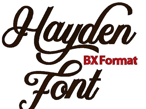 Hayden Embroidery Font BX