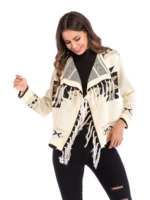 Retro Fringed Cardigan