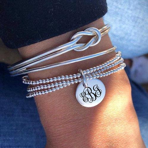Monogram Bracelet Set