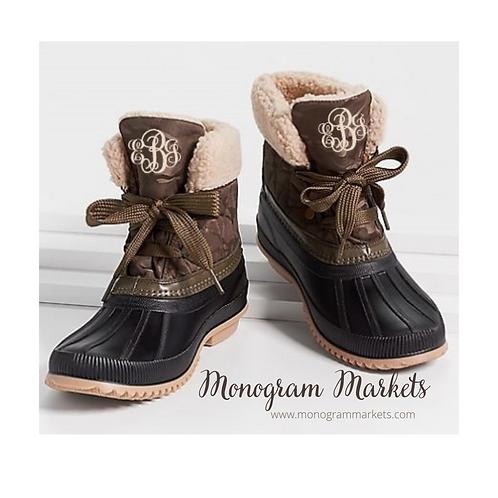 Monogrammed Duck Boots - Short