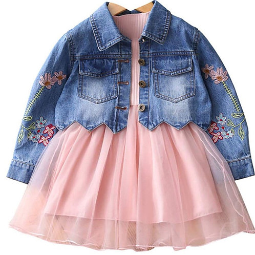 Denim Jacket Dress Set