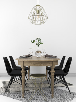 Staged Kitchen Table