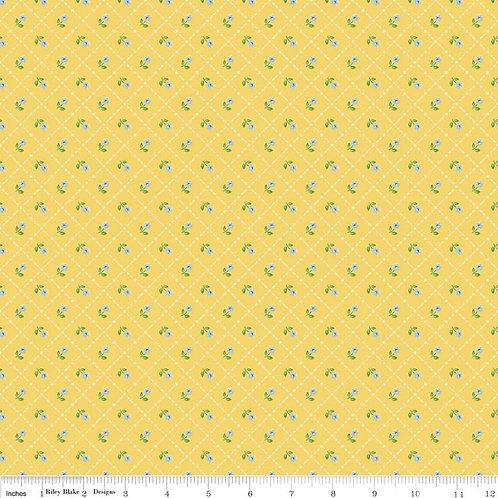 Mon Beau Jardin Grid Yellow