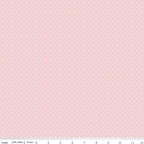 Flannel Swiss Dot Baby Pink