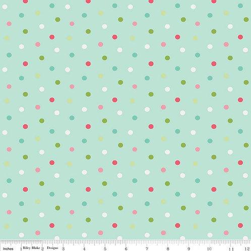Butterflies & Berries Polka Dot Mint