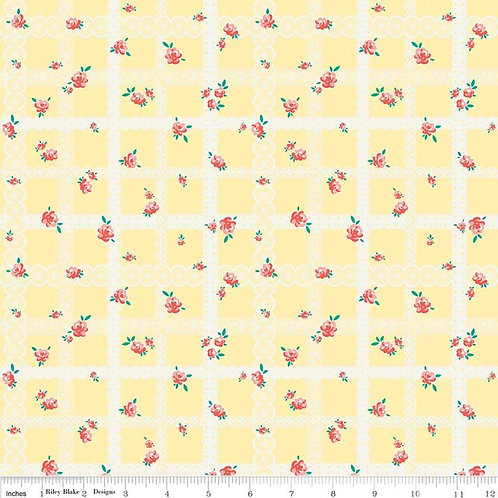 Bunnies & Blossoms Lace Yellow