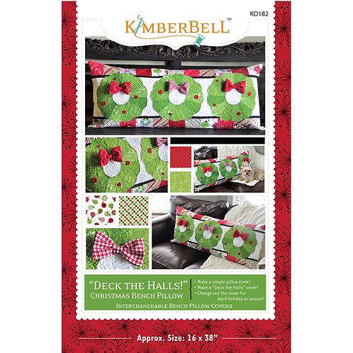 Kimberbell Deck the Halls Bench Pillow