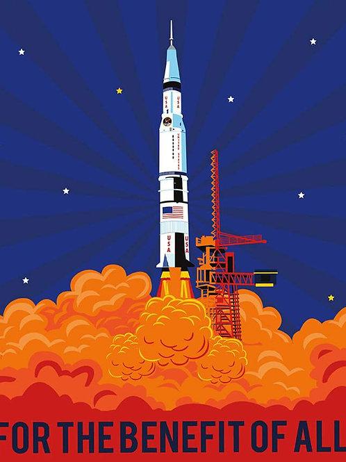 NASA Apollo 11 Rocket Panel