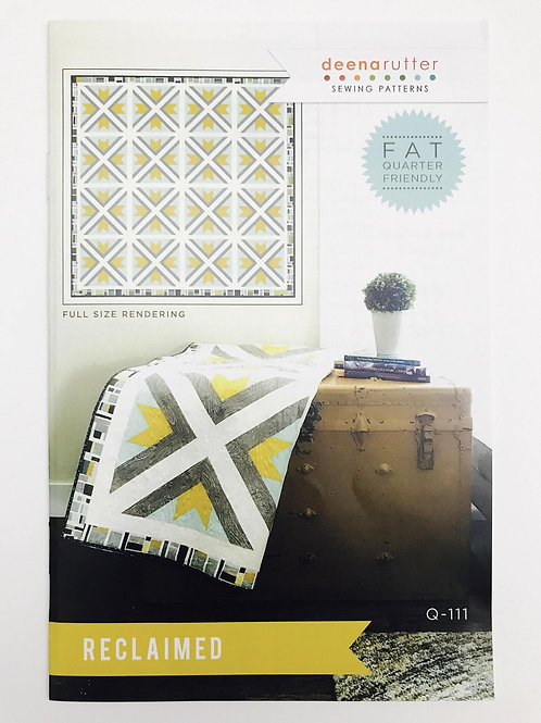 Reclaimed Quilt Pattern by Deena Rutter for Riley Blake Designs -Finished Size 9