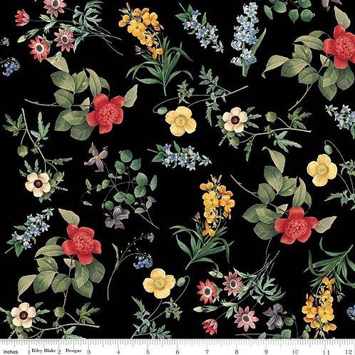 In Bloom Floral Black