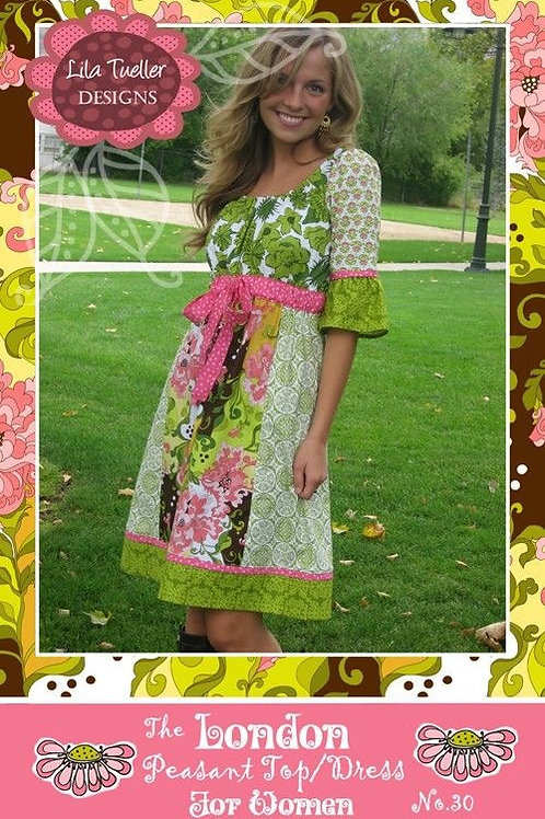 The London Peasant Top/Dress for Women Pattern by Lila Tweller Designs