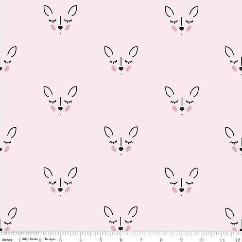 Double Gauze Deer Pink