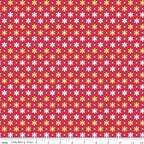 Sunnyside Daisies Red